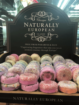 """Journey, Europe, and Free: Classqgue  NATURALLY  EUROPEAN  CLASSIC  FREE FROM PARABENS & SLES  """"Captivating fragrances that take you on an  aromatic journey through Europe""""  NATURALLY EUROPEAN  NATLRAL Forbidden Desserts"""