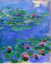 Tumblr, Blog, and Search: claudemonet-art: Water Lilies Red  1919   Claude Monet
