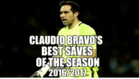 Claudio Bravo's best saves of the season for Manchester City: CLAUDIO BRAVO  BEST SAVES  OETHESEASON Claudio Bravo's best saves of the season for Manchester City