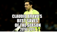 Claudio Bravo's best saves of the season for Manchester City Follow @instatroll.soccer (me) for more ✅: CLAUDIO BRAVO S  BEST SAVES  OETHESEASON Claudio Bravo's best saves of the season for Manchester City Follow @instatroll.soccer (me) for more ✅