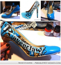 "Harry Potter, Internet, and Memes: Claw  MUGGLENET MEMES.COM  Banned in 0 countries <p>Sister in law (to be) asked if I could recreate the Harry Potter shoes (concept art) she found on the Internet for her bridal party. This is the result of the first reproduction. <a href=""http://ift.tt/1xPvltn"">http://ift.tt/1xPvltn</a></p>"