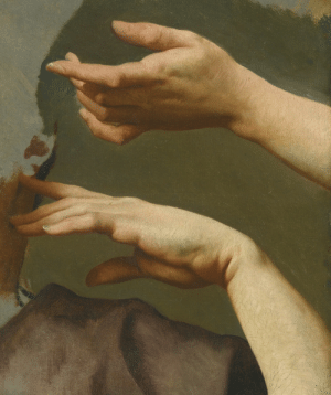 clawmarks: A  study of two hands - French School - c.1800 - via Sotheby's: clawmarks: A  study of two hands - French School - c.1800 - via Sotheby's
