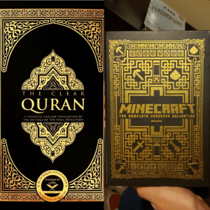 me_irl: CLE A R  тHE  QURAN  HINECRAFT  THE EOMPLETE HENDED0 COLLECTION  A THEMATIC ENGLISH TRANSLATION OF  CMOJANC  THE MESSAGE OF THE FINAL REVELATION  ENOORSED BY  QUR'AN  OF  IN  SERVICE  AL-FURQAAN ORG  QUNDATION  iTMR me_irl