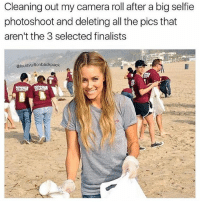 photoshootings: Cleaning out my camera roll after a big selfie  photoshoot and deleting all the pics that  aren't the 3 selected finalists  @louisvuittonbackpack