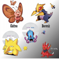 Awesome Pokémon Fusion: Clefree  PSYCHIC GHOST  P5YCHIC WATER  Beewak  SCIdile Awesome Pokémon Fusion