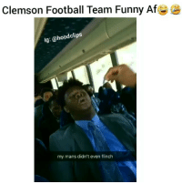 Hahha why he has his mouth open like that lol ( Follow us @hoodclips ) Via Ben Boulware comedy HoodComedy NoChill: Clemson Football Team Funny Af  lg: @hood clips  my mans didn't even flinch Hahha why he has his mouth open like that lol ( Follow us @hoodclips ) Via Ben Boulware comedy HoodComedy NoChill