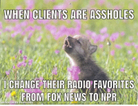 Advice, Radio, and Tumblr: CLETSAEASSHOLES  CHANGE THEIR RADIO' FAVORITES  made with mematic advice-animal:  I work at a high end dealership in a very rich city in the south.