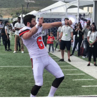 Instagram, Cleveland, and Got: CLEVELAND Baker Mayfield got the touch off the field too   (via mutguru/Instagram)