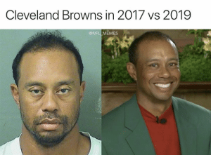In 2017: Cleveland Browns in 2017 vs 2019  @NFL MEMES