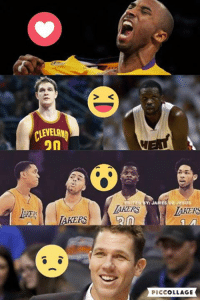 """Who is the biggest reason for lakers early success? And why?  """" ❤️ """" Kobe Retirement """" 😂 """" Free Agent Signing """" 😯 """" Young core development ' 😢 """" Luke Walton  (C) Melo Diaz  Prince Vegeta: CLEVELAND  on  AKERS  EDITED JAMES JESUS  LAKERS  PICCOLLAGE Who is the biggest reason for lakers early success? And why?  """" ❤️ """" Kobe Retirement """" 😂 """" Free Agent Signing """" 😯 """" Young core development ' 😢 """" Luke Walton  (C) Melo Diaz  Prince Vegeta"""