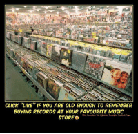 """Memes, Record, and 🤖: CLICK """"LIKE IF YOU ARE OLD ENOUGH TO REMEMBER  BUYING RECORDS AT YOUR FAVOURITE MUSIC  STORE #Rememberthis?  ms"""