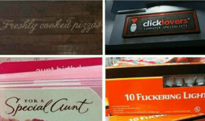 Click, Why, and This: click, overs  10 FuCKERING LIGH  FORA This is why font selection is so important