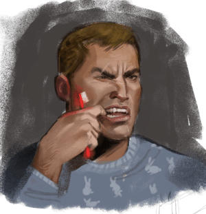 clickbaitcowboy:  i guess last night i thought it was important to draw doomguy brushing his teeth: clickbaitcowboy:  i guess last night i thought it was important to draw doomguy brushing his teeth
