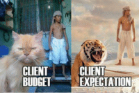 CLIENT  CLIENT  BUDGET  EXPECTATION #funny Life in small town advertising. https://t.co/vjbT2GrL7l https://t.co/yAXi3zcov0