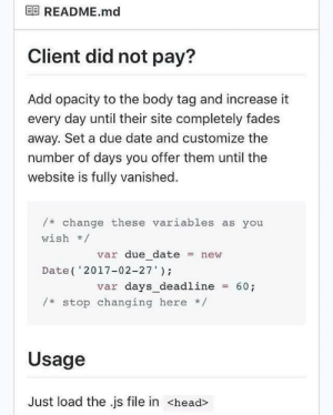 Client did not pay?: Client did not pay?