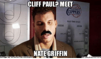 Fac, Goals, and Meme: CLIFF PAUL MEET  LOS ANGELES  HALFTIME GOALS  NATE GRIFFIN  ebook  Brought By Fac  com/NBA Memes  atioUMeme.com Blake's Twin!
