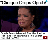 """I'm black"": Clinique Drops Oprah!  Oprah Feels Ashamed She Has Lied to  Her Fans For Years! See The Secret  She Hid So Well ""I'm black"""