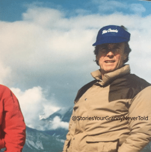 Clint Eastwood sailing in Alaska with my grandpa in 1988: Clint Eastwood sailing in Alaska with my grandpa in 1988