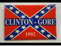 Brave, Government, and Oppression: CLINTON - GORE  1992 <p>But by all means, continue pretending that the flag is some treasured relic of brave Republicans fighting government oppression.</p>