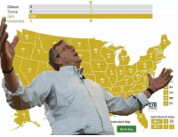 Trump, Dank Memes, and Clinton: Clinton  Trump 0  Jeb  Undecided 0  538  WA  OR  ID  10  IA  NV  20  11  5/M  13  1D  TH  DE  70 DC  EWIN  AK  3  29  Split Electoral Votes  nerated Map  Share Map
