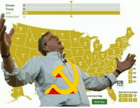 Comrade Jeb has seized the means of election!: Clinton  Trump  Jeb  Undecided 0  nerated Map  Share Map  70 DC  EWIN Comrade Jeb has seized the means of election!