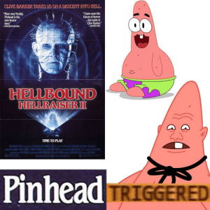"""Future, Time, and Hell: CLIVE BARKER TAKES US ONA DESCENT IYTO HELL  Move over Freddy  Pinhead is the  new horror  hero.""""  """"I have seen the  future of horor  ..his name is  Clive Barker  STEPHIEN KING  -FANGORIAMAGAZINE  HELLBOUND  RIENURAISERⅢ  TIME TO PLAY  PinheaduE  : (1 1 TRIGGERED Hellraiser"""