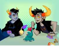 Clock, Target, and Tumblr: clock-heart: tavros gets some new piercings, mallek learns feduspawn and both find friendship