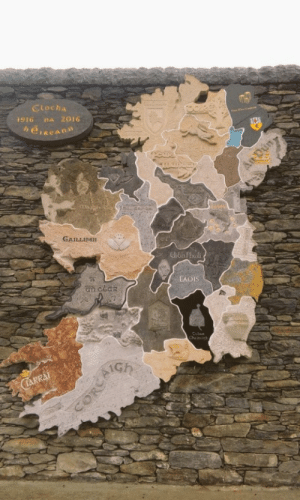 Click, Tumblr, and Blog: Cloeha  916 na 2016  GAILLIMH  LAOIS  am ceak land-of-maps:  15ft map of Ireland made from 32 native stones from each county [480x800]CLICK HERE FOR MORE MAPS!