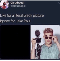 Fashion, Halloween, and Memes: Cloutbagel  @cloutbagel  Like for a literal black picture  Ignore for Jake Paul 🎭 Light up the Night with our LED Power Masks🔥 @trendsetter.fashion is having a Huge Halloween SALE❗️ Buy 2, get the second 25% OFF! ••• ✔️Use it this Halloween ✔️Take 🔥🔥 Pictures ✔️Perfect for Raves 🎭 ✔️Take it to Costume Parties 🎉 ••• Shop: @trendsetter.fashion ‼️ Sale Ends Soon! Free Shipping Worldwide 📦