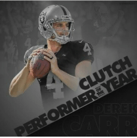 Memes, 🤖, and Clutch: CLU  OF  THE Congrats to Derek Carr on being named Clutch Performer of the Year. Go Raiders! #Chica
