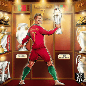 Nations League ✔️  Another trophy for Ronaldo: CLUB  CLUB  HNTERNATIONAL  RONALDO  UEFA  NATIONS LEAGUE  EURO 2016  B-R  FOOTBALL  BARCLAYS BARCLAYS Nations League ✔️  Another trophy for Ronaldo