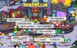 thisisaquestion:REST IN PEACE CLUB PENGUIN. THIS WAS THE LAST FULL DAY OF CLUB PENGUIN.: CLUB  DANGECLUB 3  TIMES  CLOTHES SHOP  not my president  not my president  not my president  not my presidentnot my president  13014  not my president  Mayaharts  1505983  an  e123 yall are so woke im  shook  no wal ls I'M WITH HER  antisze  Pi  03  P34150275 thisisaquestion:REST IN PEACE CLUB PENGUIN. THIS WAS THE LAST FULL DAY OF CLUB PENGUIN.