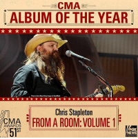 "Memes, News, and Fox News: CMA  ALBUM OF THE YEAR  Photo by Kia Macaw/betty mages for Hear Mais  Chris Stapletorn  MA 리FROM AROOM VOLUME!  51  A  R  ST  FOX  NEWS JUST IN: The CMA Award for Album of the Year goes to Chris Stapleton's ""From A Room: Volume 1."" CMAawards"