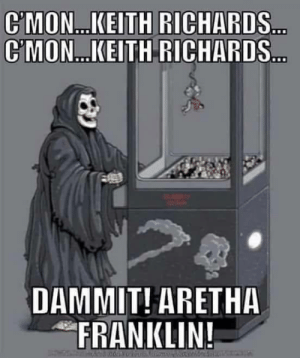 Funny, God, and Death: C'MON... KEITH RICHARDS  CMON....KEITH RICHARDS  DAMMIT! ARETHA  FRANKLIN! God plays skee-ball, Death plays claw machine via /r/funny https://ift.tt/2wefOFt