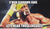 Seahawk,  Cmon, and Seahawks Fan: C'MON SEAHAWK FANS  ONFL MEMES  LETS HEAR THOSE EXCUSES Seahawks Fans..