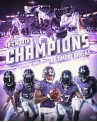 The @Ravens are AFC NORTH CHAMPS! #RavensFlock https://t.co/kbXUbKGOG0: CN  CHAMPIONE  BALTIMORE RAVENS  NFL The @Ravens are AFC NORTH CHAMPS! #RavensFlock https://t.co/kbXUbKGOG0