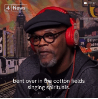 "Memes, 🤖, and Cotton: CN HOT 97  4 News  Bklyn  LANE  bent over in  the cotton fields  singing spirituals. What does ""Make America Great Again"" really mean? This is Samuel L. Jackson's theory."