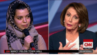 "Memes, Nancy Pelosi, and 🤖: CN NANCY PELOSI TOWN HALL  (CNN  6:14 PM PT  aPELOSITOWNHALL House Democratic Leader Nancy Pelosi to a Yemeni refugee: ""Your family is suffering because our President is reckless"" #PelosiTownHall http://cnn.it/2jTEoqc"