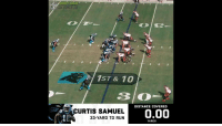 Football, Memes, and Nfl: CNEXT GEN  NFL  1ST & 10  DISTANCE COVERED  URTIS SAMUEL  33-YARD TD RUN  0.00  YARDS .@CurtisSamuel4__ ran the FULL length of a football field on this 33-yard TD run. 😱  (via @NextGenStats) https://t.co/QkKujYIgo3