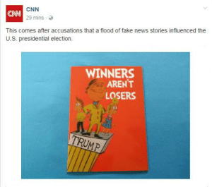 https://t.co/sVts7Byq9n: CNN  29 mins  CNN  This comes after accusations that a flood of fake news stories influenced the  U.S. presidential election.  WINNERS  ARENT  LOSERS  RU https://t.co/sVts7Byq9n