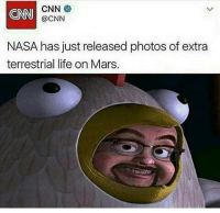 Nasa, Trendy, and Dose: CNN  CNN  @CNN  NASA has just released photos of extra  terrestrial life onMars. Daily dose of news @staggering • ➫➫➫ Follow @Staggering for more funny posts daily!
