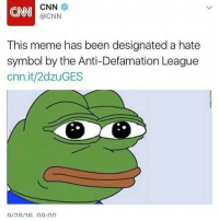 2016 is the worst year: CNN  @CNN  This meme has been designated a hate  symbol by the Anti-Defamation League  cnn.it/2dzuGES 2016 is the worst year
