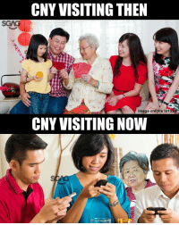 Guilty as charged hehe: CNY VISITING THEN  Image credits to1  CNY VISITING NOW Guilty as charged hehe