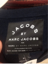 CO  BY  MARC JACOBS  FOR  MARC BY MARC JACOBS  IN COLLABORATION WITH  MARC JACOBS FOR MARC  BY MARC JACOBS  too CACH MIRE  FABRIQUE This is getting out of hand...  Like See more memes for more awesome
