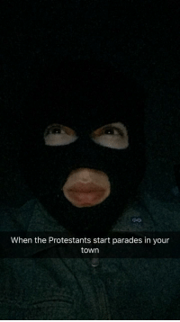 Good, Brothers, and First: CO  When the Protestants start parades in your  town