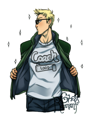 Tumblr, Blog, and Cool: Coach  Loop ghostremnant:  I contacted Supermassive Games about a month ago and one of the greatest mysteries of Until Dawn has been revealed.I honestly didn't expect an answer, but they gave away what Chris' shirt actually says. As an artist, I wanted to do any potential fanart accurately and I couldn't find what his shirt said ANYWHERE! So I asked the source. It was so cool of the team to get back to me on this! I had to commemorate the moment.