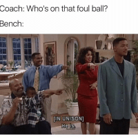 Baseball, Memes, and Hunting: Coach: Who's on that foul ball?  Bench:  @hot  IN UNISON]  He is Double Tap for Freshman (R.I.P. Uncle Phil). . . . ForReal FreshPrince Baseball Softball Ballplayer FreshMan Foul Ball Hunting