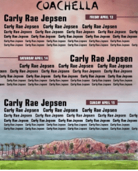 Carly Rae Jepsen, Coachella, and Friday: COACHELLA  Carly Rae Jepsen HI APAY  FRIDAY APRIL 13  Carly Rae Jepsen Carly Rae Jepsen Carly Rae Jepsen  Carly Rae Jepsen Carly Rae Jepsen Carly Rae Jepsen Carly Rae Jepsen Carly  Carly Rae Jepsen Carly Rae Jepsen Carly Rae Jepsen Carly Rae Jepsen Carly Rae Jepsen  Carly Rae Jepsen Carly Rae Jepsen Carly Rae Jepsen Carly Rae Jepsen Carly Rae Jepsen Carly Rae Jepsen  Carly Rae Jepsen Carly Rae Jepsen Carly Rae Jepsen Carly Rae Jepsen Carly Rae Jepsen Carly Rae Jepsen Carly  Carly Rae Jepsen  SATURDAY APRIL 14  Carly Rae Jepsen Carly Rae Jepsen Carly Rae Jepsen  sen Carly Rae Jepsen Carly Rae Jepsen Carly Rae Jepsen Carly Rae Jepsen  arly Rae Jepsen Carly Rae Jepsen Carly Rae Jepsen Carly Rae Jepsen Carly Rae Jepsen  Carly Rae Jepsen Carly Rae Jepsen Carly Rae Jepsen Carly Rae Jepsen Carly Rae Jepsen Carly Rae Jepsen  sen Carly Rae Jepsen Carly Rae Jepsen Carly Rae Jepsen Carly Rae Jepsen Carly Rae Jepsen Carly Rae Jepsen  Carly Rae Jepsen  SUNDAY APRIL 15  Carly Rae Jepsen Carly Rae Jepsen Carly Rae Jepsen  Carly Rae Jepsen Carly Rae Jepsen Carly Rae Jepsen Carly Rae Jepsen Carly  Carly Rae Jepsen Carly Rae Jepsen Carly Rae Jepsen Carly Rae Jepsen Carly Rae Jepsen  Carly Rae Jepsen Carly Rae Jepsen Carly Rae Jepsen Carly Rae Jepsen Carly Rae Jepsen Carly Rae Jepsen  Carly Rae Jepsen Carly Rae Jepsen Carly Rae Jepsen Carly Rae Jepsen Carly Rae Jepsen Carly Rae Jepsen Carly