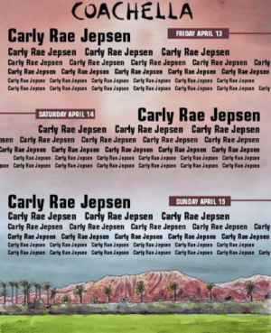 Carly Rae Jepsen, Coachella, and Friday: COACHELLA  Carly Rae Jepsen HI APAY  FRIDAY APRIL 13  Carly Rae Jepsen Carly Rae Jepsen Carly Rae Jepsen  Carly Rae Jepsen Carly Rae Jepsen Carly Rae Jepsen Carly Rae Jepsen Carly  Carly Rae Jepsen Carly Rae Jepsen Carly Rae Jepsen Carly Rae Jepsen Carly Rae Jepsen  Carly Rae Jepsen Carly Rae Jepsen Carly Rae Jepsen Carly Rae Jepsen Carly Rae Jepsen Carly Rae Jepsen  Carly Rae Jepsen Carly Rae Jepsen Carly Rae Jepsen Carly Rae Jepsen Carly Rae Jepsen Carly Rae Jepsen Carly  Carly Rae Jepsen  SATURDAY APRIL 14  Carly Rae Jepsen Carly Rae Jepsen Carly Rae Jepsen  sen Carly Rae Jepsen Carly Rae Jepsen Carly Rae Jepsen Carly Rae Jepsen  arly Rae Jepsen Carly Rae Jepsen Carly Rae Jepsen Carly Rae Jepsen Carly Rae Jepsen  Carly Rae Jepsen Carly Rae Jepsen Carly Rae Jepsen Carly Rae Jepsen Carly Rae Jepsen Carly Rae Jepsen  sen Carly Rae Jepsen Carly Rae Jepsen Carly Rae Jepsen Carly Rae Jepsen Carly Rae Jepsen Carly Rae Jepsen  Carly Rae Jepsen  SUNDAY APRIL 15  Carly Rae Jepsen Carly Rae Jepsen Carly Rae Jepsen  Carly Rae Jepsen Carly Rae Jepsen Carly Rae Jepsen Carly Rae Jepsen Carly  Carly Rae Jepsen Carly Rae Jepsen Carly Rae Jepsen Carly Rae Jepsen Carly Rae Jepsen  Carly Rae Jepsen Carly Rae Jepsen Carly Rae Jepsen Carly Rae Jepsen Carly Rae Jepsen Carly Rae Jepsen  Carly Rae Jepsen Carly Rae Jepsen Carly Rae Jepsen Carly Rae Jepsen Carly Rae Jepsen Carly Rae Jepsen Carly bareback-bieber:so excited for the Coachella line up!