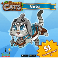 Cats, Memes, and App Store: COATS Nata  in need!  to cats App Store lPGoogle Play Are you playing Castle Cats today?! I am! Follow @Castle_Cats to recruit me by participating in giveaways that the developaws are holding right now on insta and fb! Let's support @milos_sanctuary and defeat The Evil Pugomancer together! Link in Bio! gamesforcharity milossanctuary